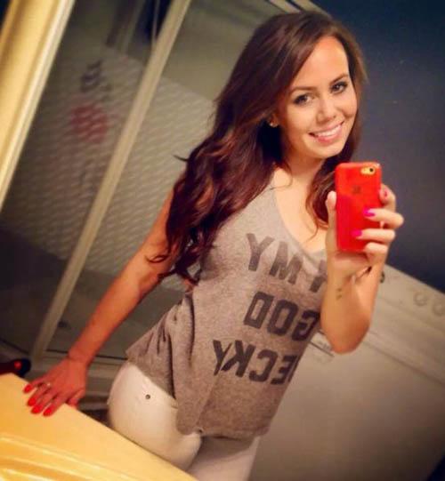 Ambil kekuatan Boob selfie Happy Girl (25)