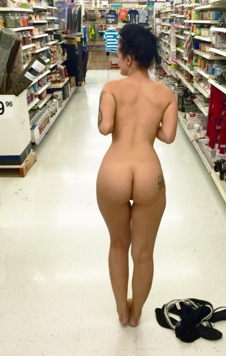 Infinitely Nude girls in shoping mall